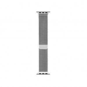 38mm Silver Milanese Loop