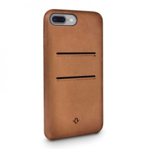 Twelve South Relaxed Leather Case with Pockets iPhone 8 Plus/7 Plus/6 Plus - Cognac