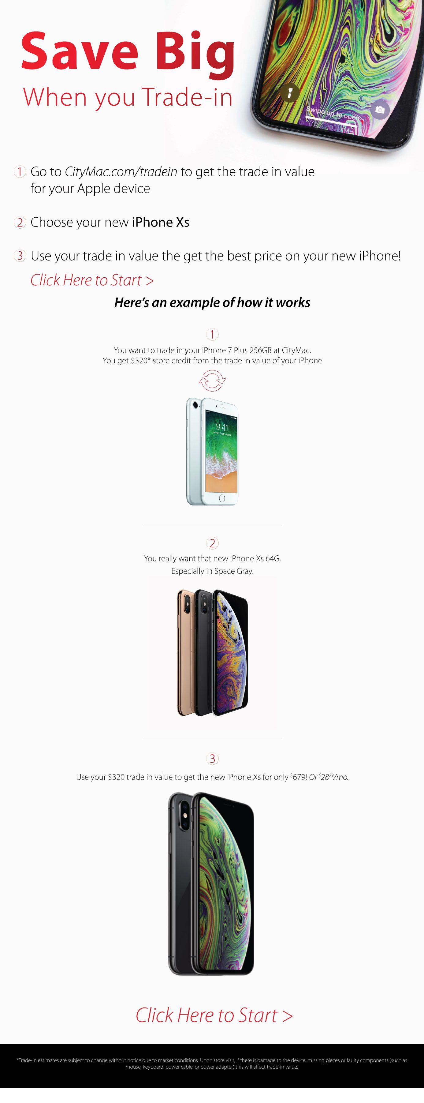 Save Big on New iPhone with citymac.com/tradein