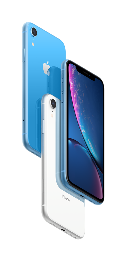 iPhone XR blue hero